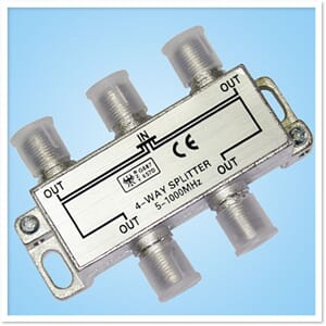 4 Way Passive TV Splitter, 5MHz - 1000MHz