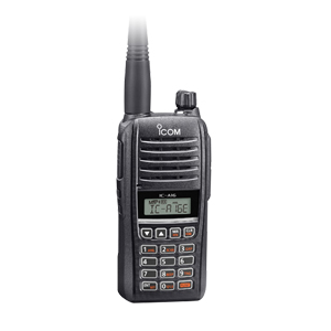 IC-A16E #12 VHF Airband radio with bluetooth, incl. charger