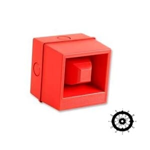 Fire Alarm Sounder Red 24VDC, 106dB, IP65, MED