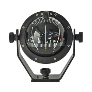 Multidirectional compass 100 mm conical card. Black